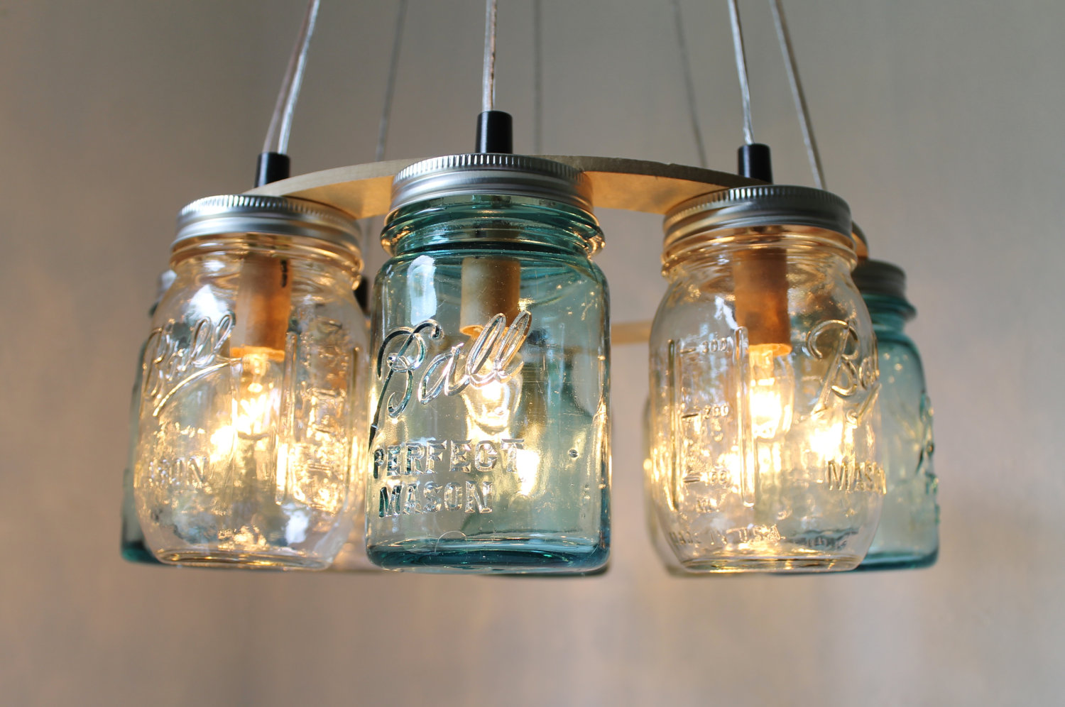 mason jar lamp diy photo - 2