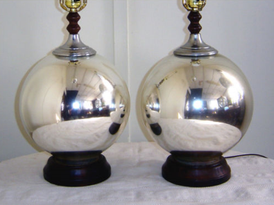 mercury glass lamps photo - 5
