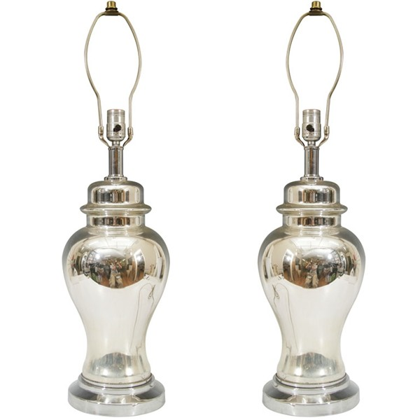 mercury glass table lamps photo - 4