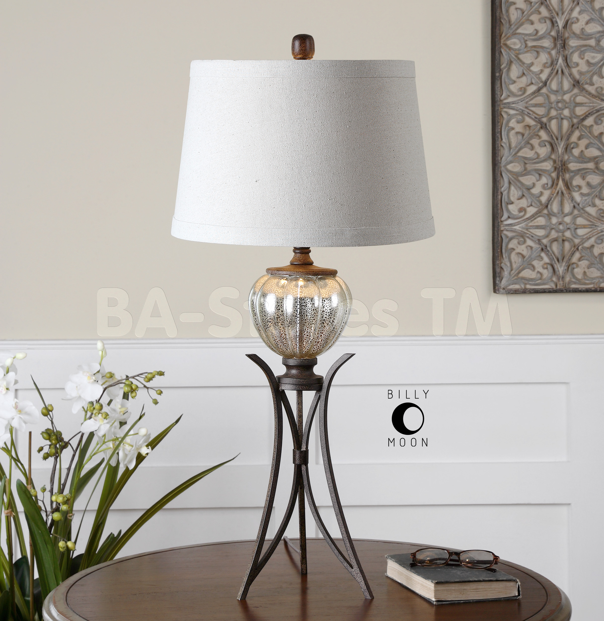 mercury glass table lamps photo - 6