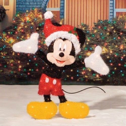 mickey mouse christmas lights outdoor photo - 3
