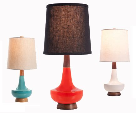 mid century modern lamps photo - 2