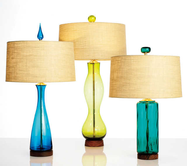mid century modern table lamps photo - 1