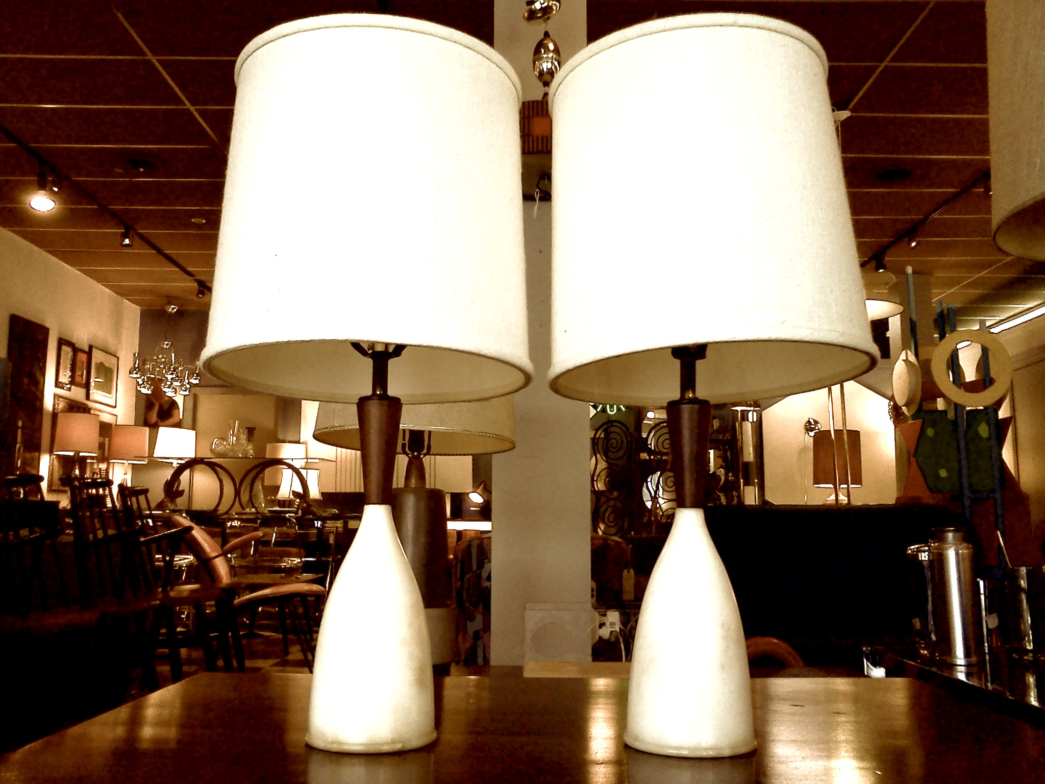 mid century table lamps photo - 8