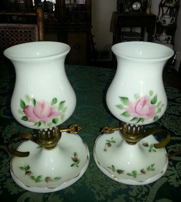 milk glass lamps photo - 10