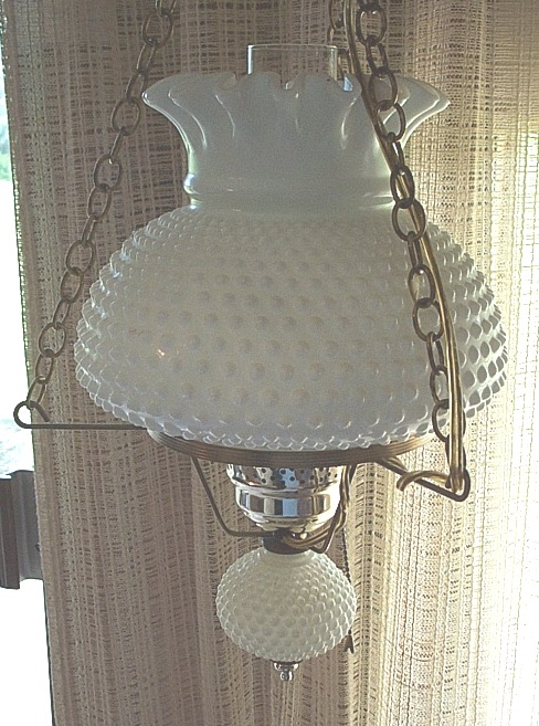 milk glass lamps photo - 7