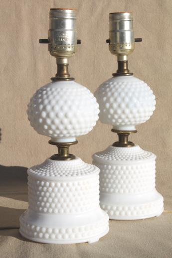 milk glass lamps photo - 9