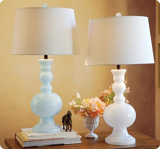 milk glass table lamps photo - 1