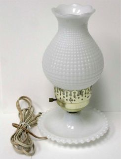 milk glass table lamps photo - 9