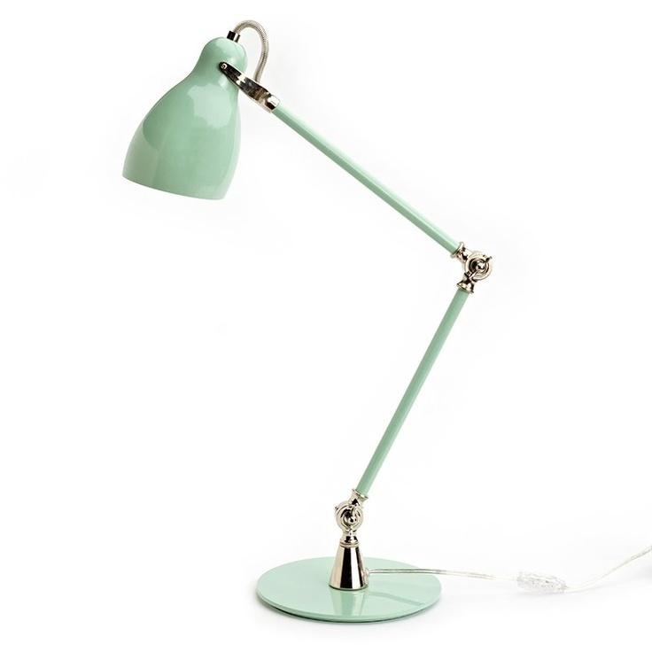 mint green lamp photo - 1