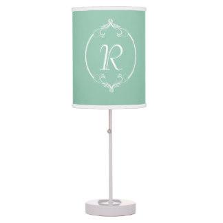 mint green lamp photo - 3
