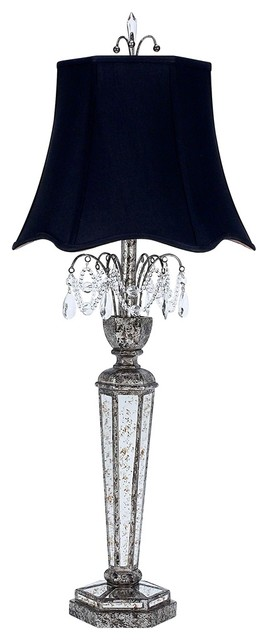 mirrored table lamps photo - 6