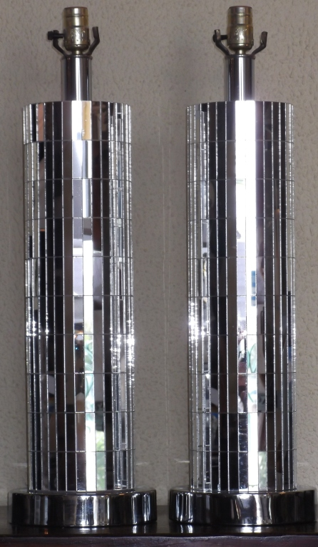 mirrored table lamps photo - 7