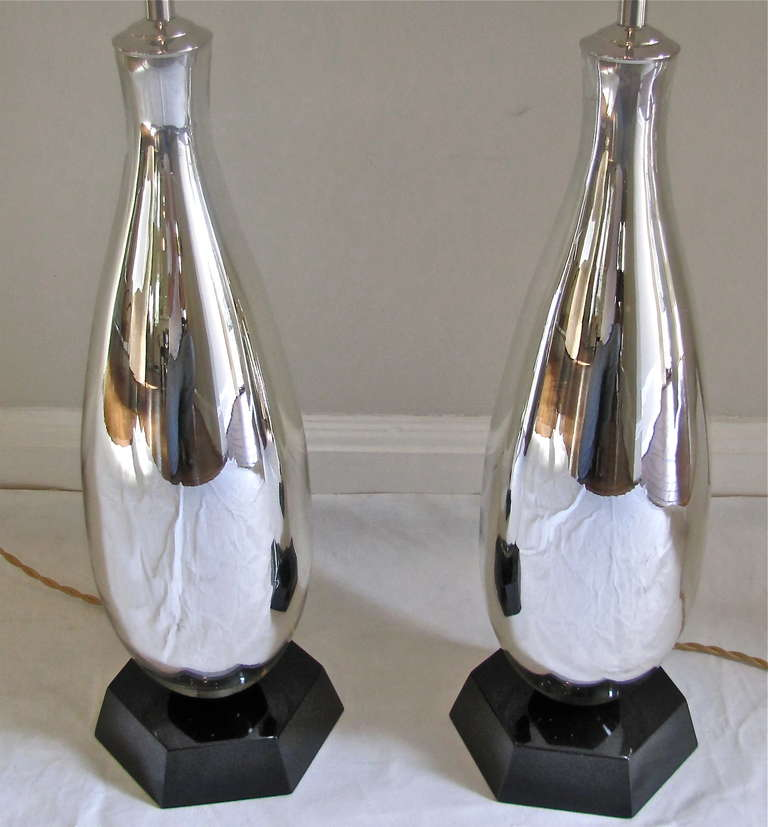 mirrored table lamps photo - 8