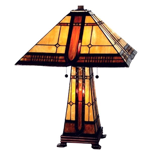 mission style desk lamp photo - 9