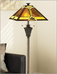 mission style floor lamps photo - 1