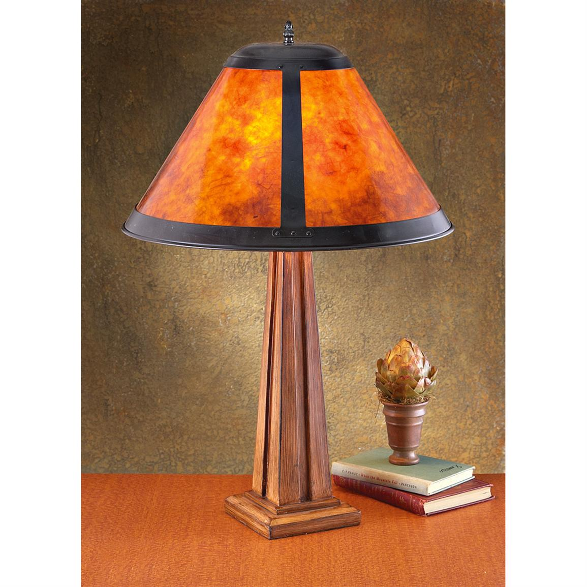 mission style floor lamps photo - 2