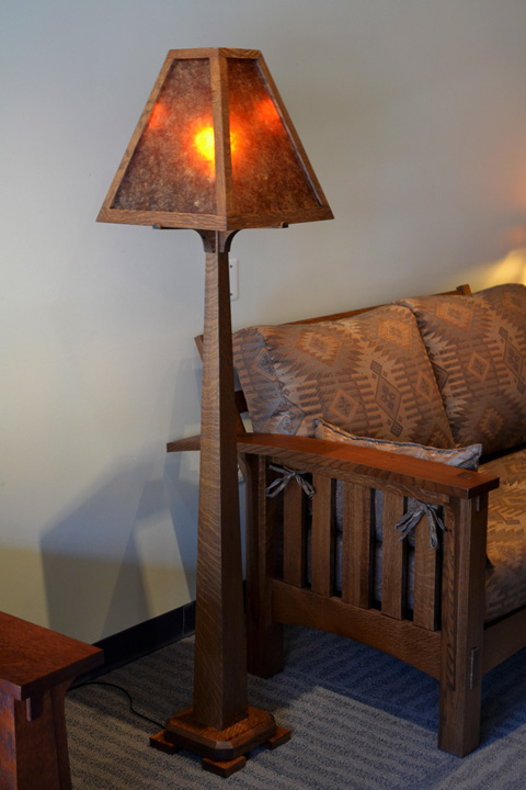 mission style floor lamps photo - 4