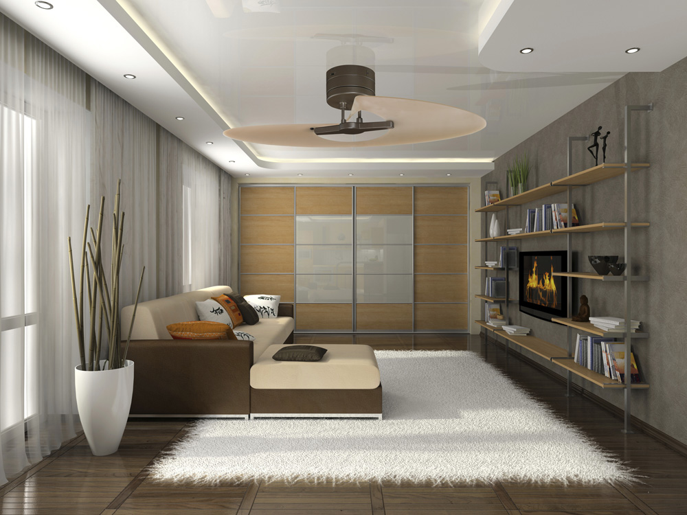 modern bedroom ceiling fans photo - 5