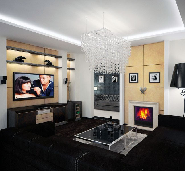 modern ceiling lights living room photo - 1