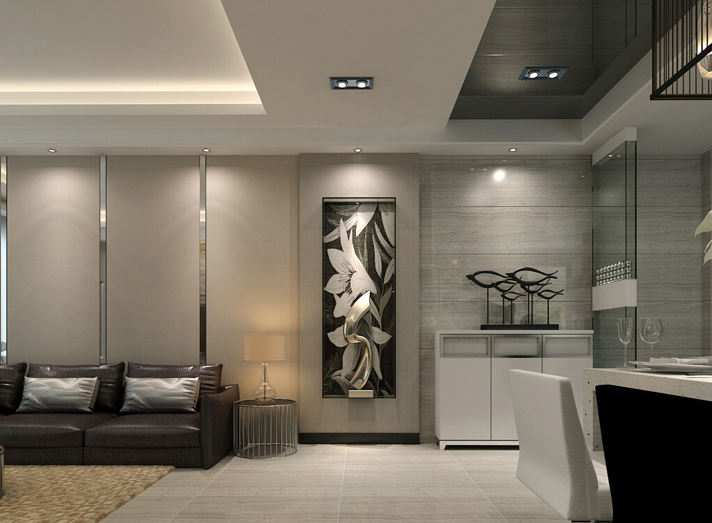 modern ceiling lights living room photo - 4