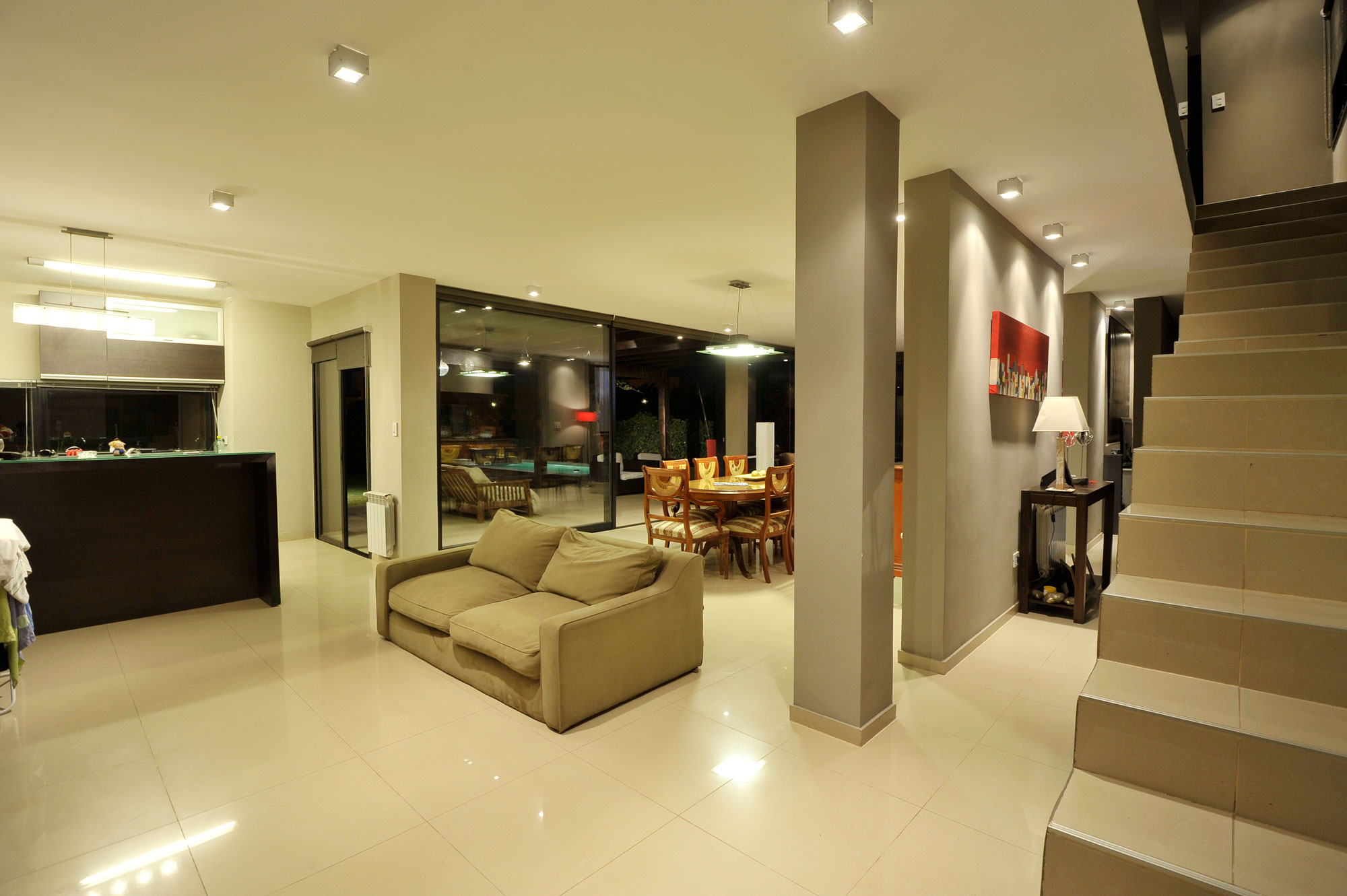 modern ceiling lights living room photo - 7