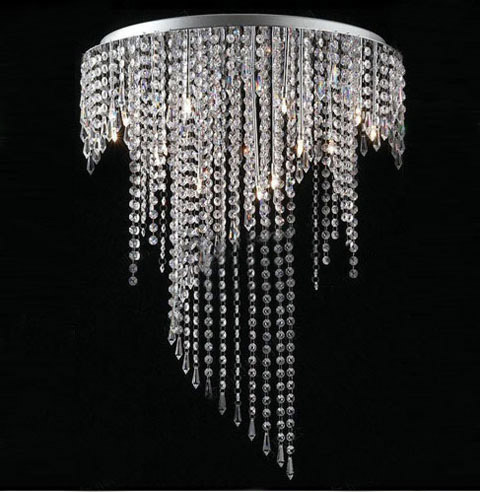 modern crystal ceiling lights photo - 1