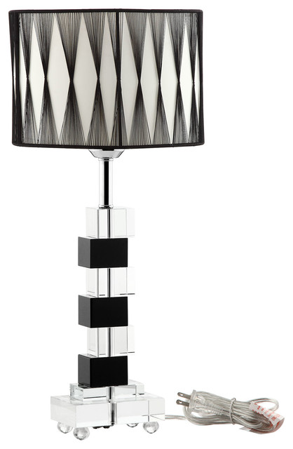 modern crystal table lamps photo - 10