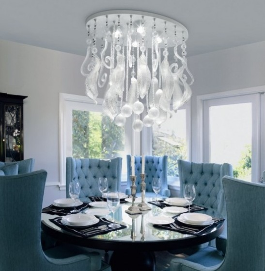 modern dining room ceiling lights photo - 1