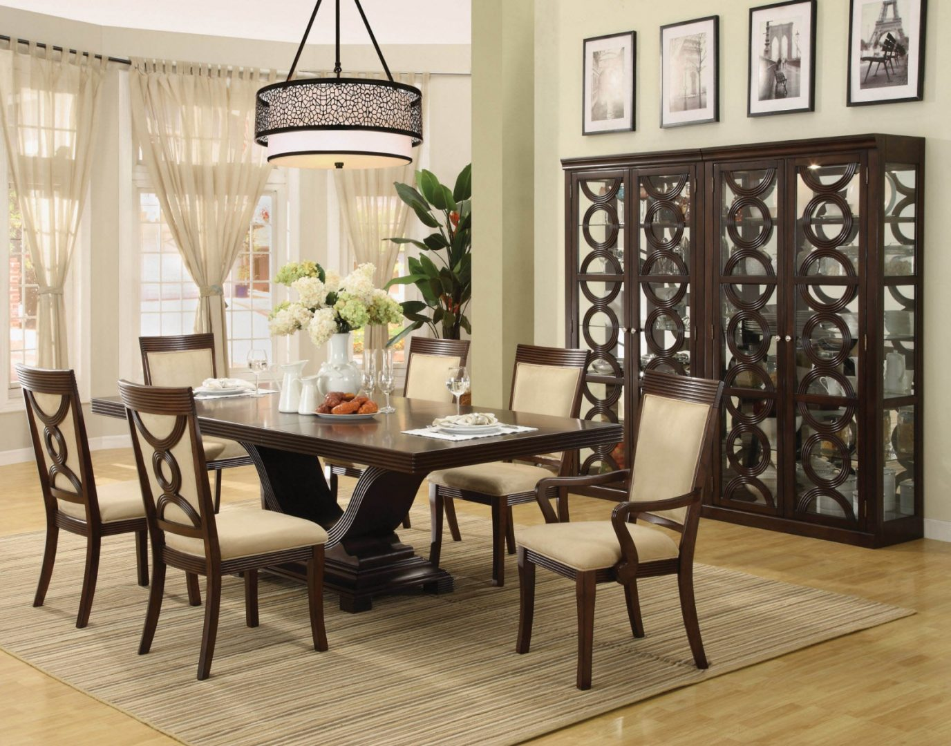 modern dining room ceiling lights photo - 3