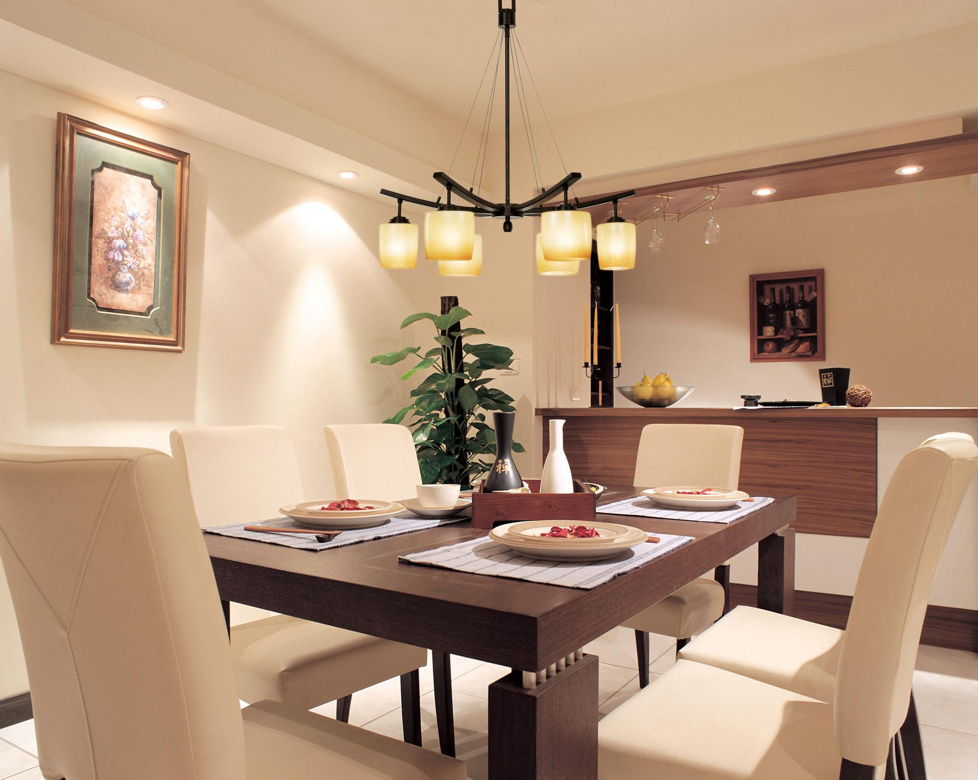modern dining room ceiling lights photo - 7