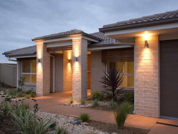 modern exterior wall lights photo - 3