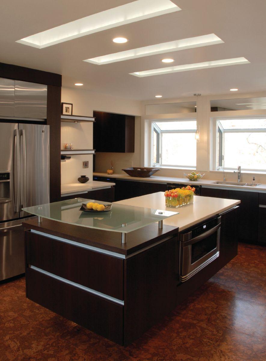 modern kitchen ceiling lights photo - 2
