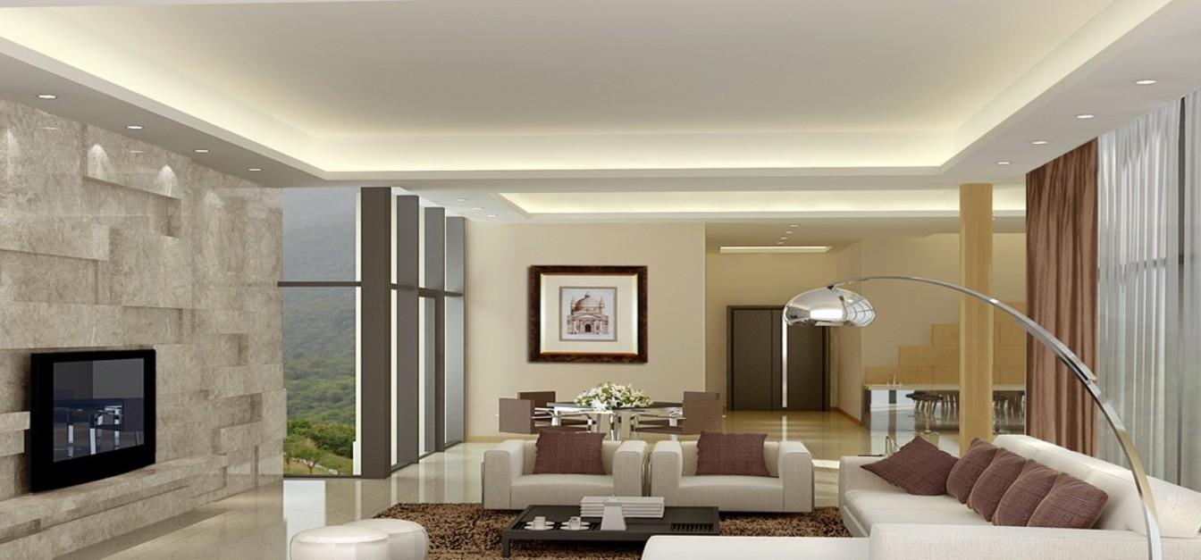 modern living room ceiling lights photo - 1