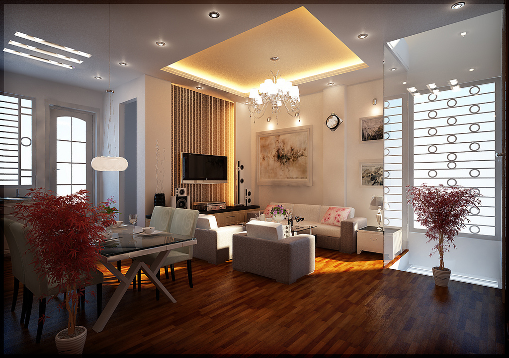 Modern Living Room Ceiling Lights Photo   6