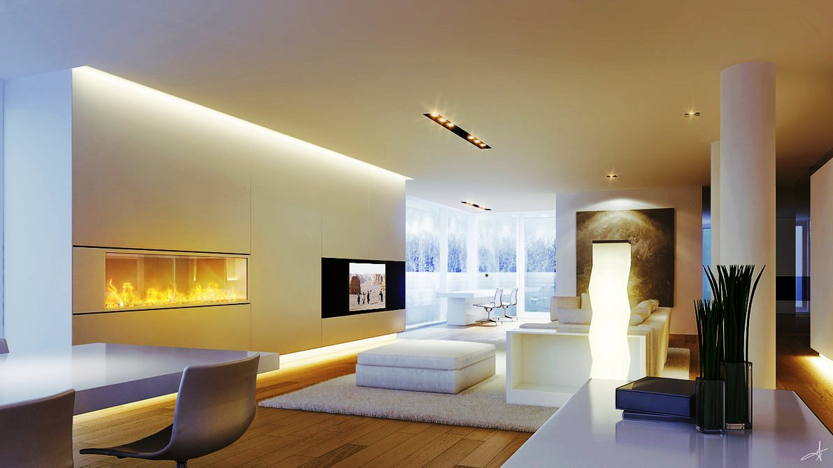 modern lounge ceiling lights photo - 7