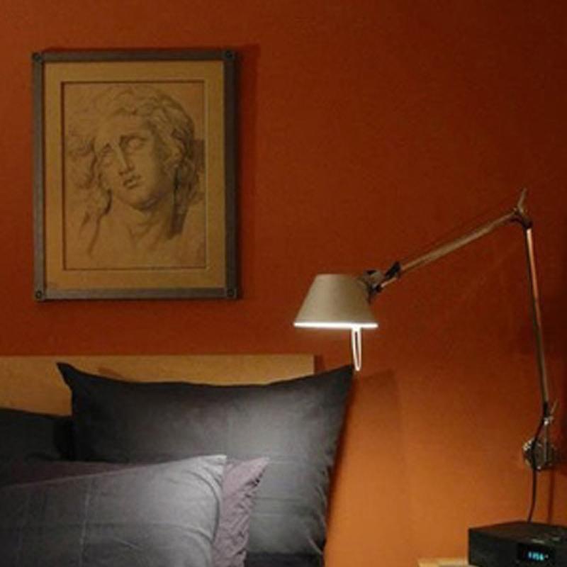 modern swing arm wall lamp photo - 8