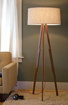 modern tripod floor lamp photo - 6