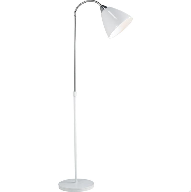 modern white floor lamp photo - 1