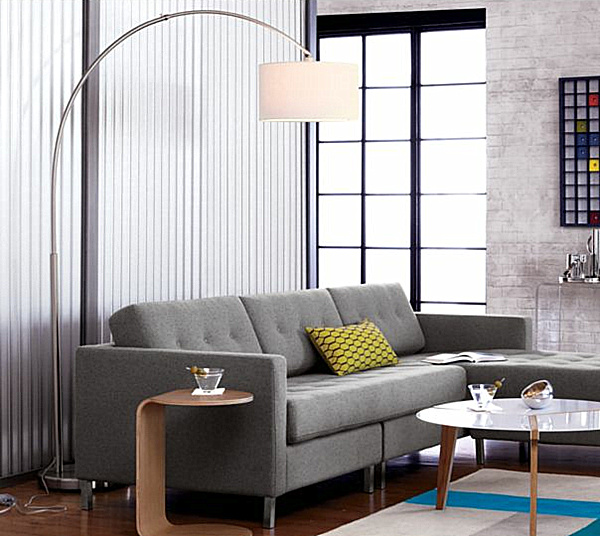 modern white floor lamp photo - 9
