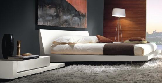 modern white table lamp photo - 5