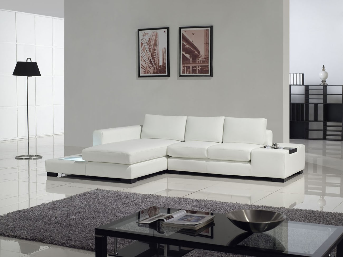 modern white table lamp photo - 8