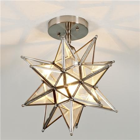 moravian star ceiling light photo - 1