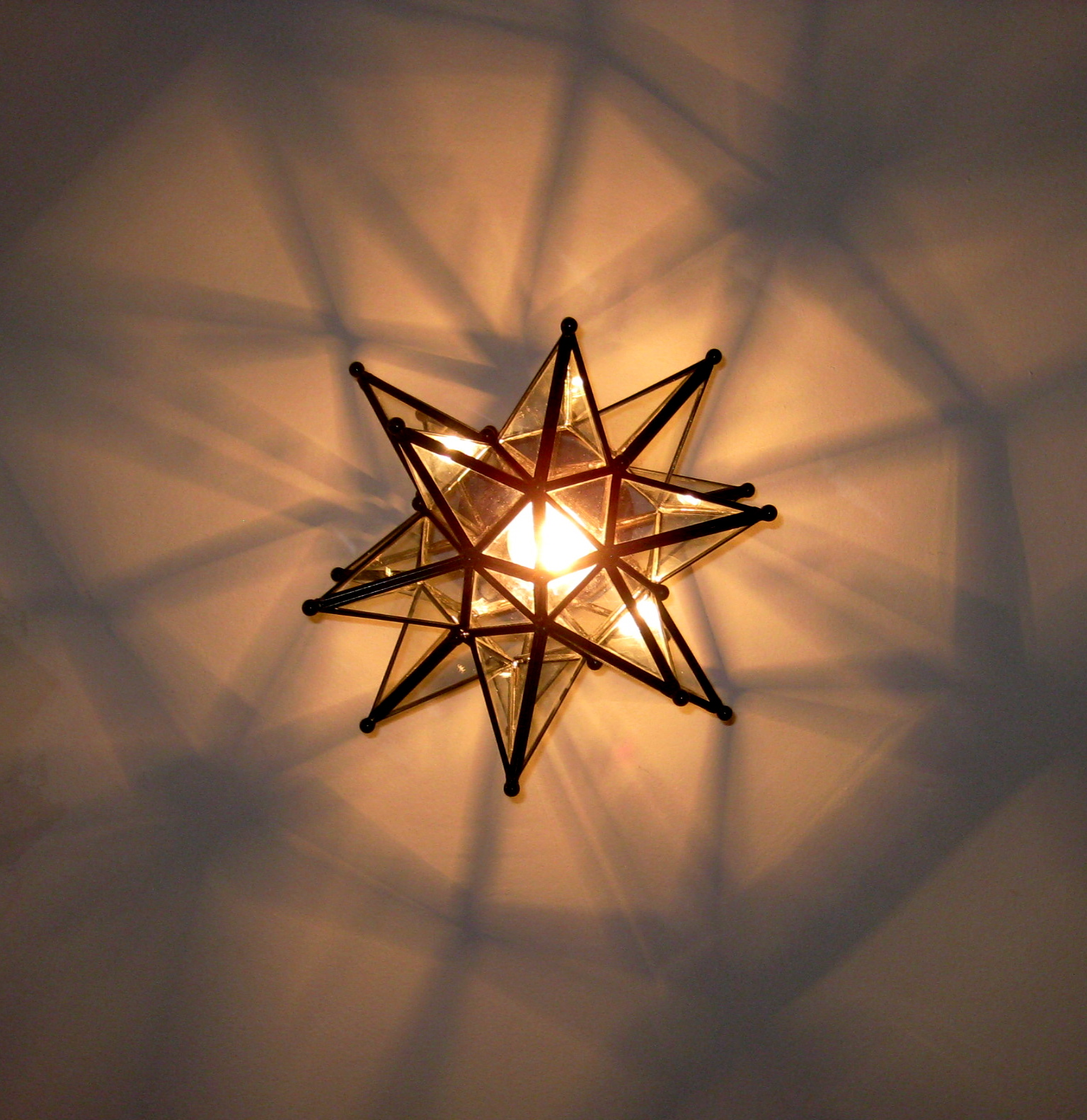 moravian star ceiling light photo - 2
