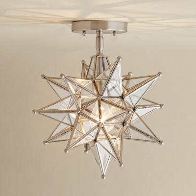 moravian star ceiling light photo - 3
