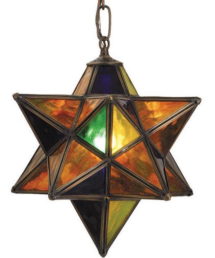 moravian star ceiling light photo - 4