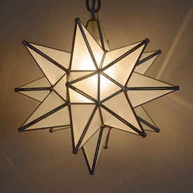 moravian star ceiling light photo - 5