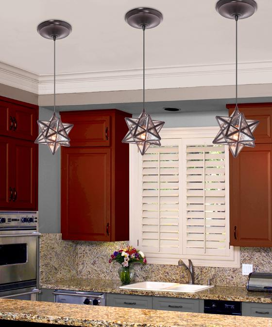 moravian star ceiling light photo - 8