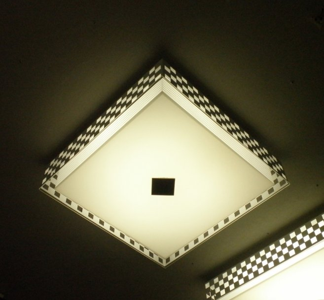 mosaic ceiling light photo - 1