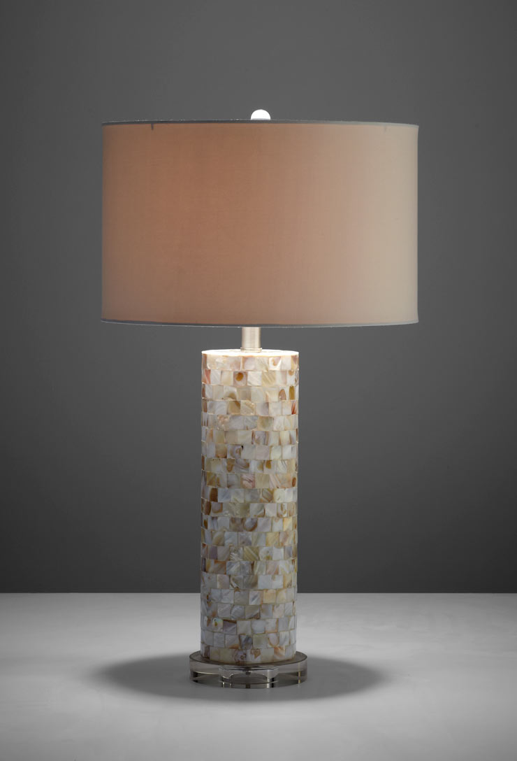 mother of pearl table lamps photo - 10